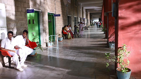 people at interior of Hospital Live Action