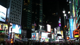 New York 290 Manhattan midtown times square by night Footage