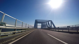 Blue sky of a vehicle-mounted video. Traveling by car the Tokyo Gate Bridge in T ライブ動画