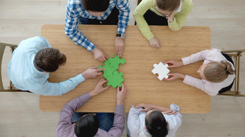 Corporate teamwork concept Footage