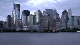New York 161HD Manhattan, Hudson River, Skyline early in the Morning Footage