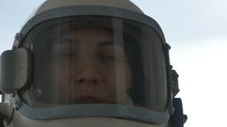 Happy Astronaut Woman Footage
