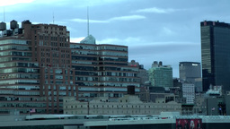 New York 167HD Manhattan Hells Kitchen in the Morning seen from Hudson River Footage