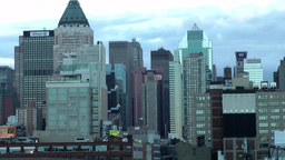 New York 179 Manhattan, Skyline at Hudson River, daybreak Footage