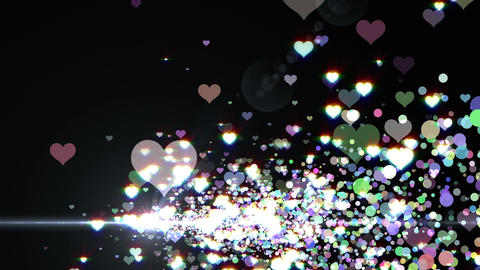 Lens Flares and Particles 16 heart H2 4k Animation