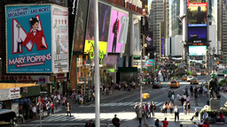 New York 197 Manhattan Times Square 7th avenue seen from platform Footage