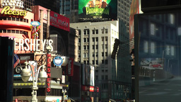 New York 199 Manhattan close up of facades Broadway 7th avenue Times Square Footage