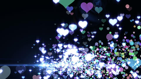 Lens Flares and Particles 16 heart J2 4k Animation
