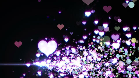 Lens Flares and Particles 16 heart M2 4k Animation
