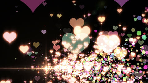 Lens Flares and Particles 16 heart N2 4k CG動画