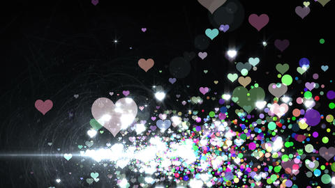 Lens Flares and Particles 16 heart T2 4k CG動画