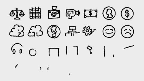 Freehand Icons Toolkit 1, Stock Animation