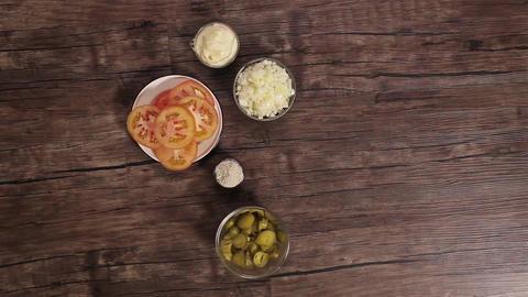 Fish Burger Ingredients - Timelapse - Top 1 Live Action