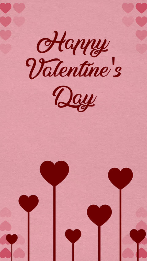 Valentines day verctical card 2 Stock Video Footage