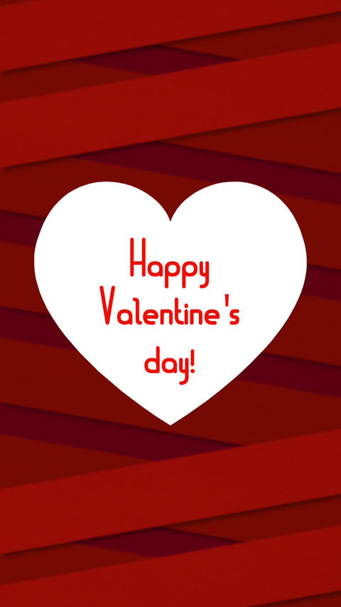 Valentines day verctical card 5 Stock Video Footage