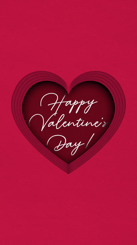 Valentines day verctical card 6 Animation
