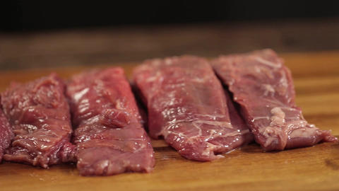 Beef Piece - Cut Out Beef Pieces - Slider - Right To Left Live Action