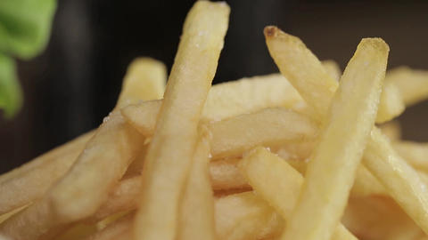 French Fries and Coke - Pan - Focus Pull Footage