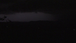 A spread lightning during a thunderstom at night Footage