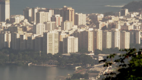 Afternoon pan of Rio de Janeiro from above Footage