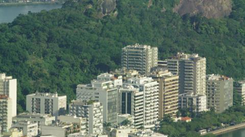 Bird's eye tilt of Rio de Janeiro Footage