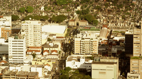 Day traffic congestion on Rio de Janeiro street Footage