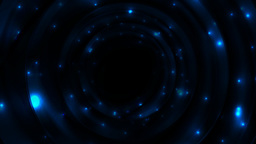 Blue glowing space with sparkling stars video animation Animation