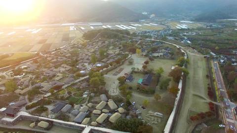 Nakan Eupseong Fortless Traditional Village, Suncheon, Jeollanamdo, South Korea, Footage
