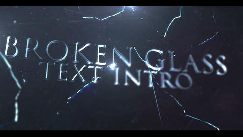 BROKEN GLASS TEXT INTRO After Effects Template