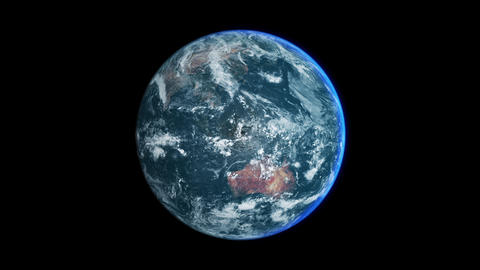 Earth Day View - 360 LOOP 4K - Centered Animation