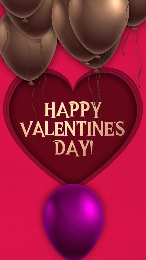 Valentine's Day: instagram vertical card (opener) Animation