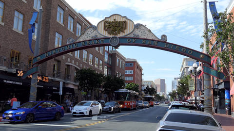 View Of Gaslamp Historic Quarter United States Live Action