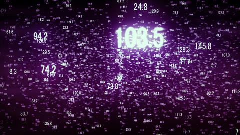 Hud numbers purple Animation