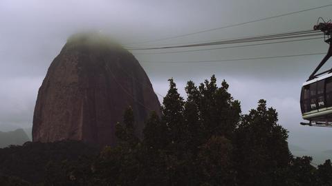 East facing aerial of Rio de Janeiro's landmark Statue of Christ Footage