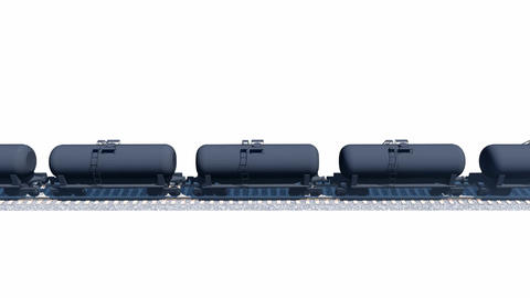 Petroleum tank wagons loopable 3D animation Animation