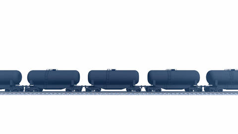 Petroleum tank cars on white background loopable animation Animation