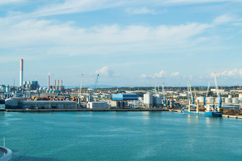 Port of Civitavecchia-the capital city of Rome, an important cargo port for フォト