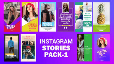 Instagram Stories Pack-1 After Effects Template
