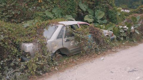 Apocalyptic Abandoned Car 16 Footage