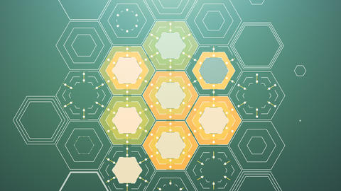 Abstract Digital Hexagons Animation