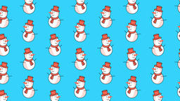 Dancing christmas snowmen icons Stock Video Footage