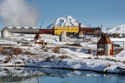 Geothermal Power Station. Russian Far East, Kamchatka Fotografía