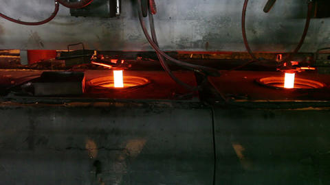 Casting of steel at the metallurgical plant Footage