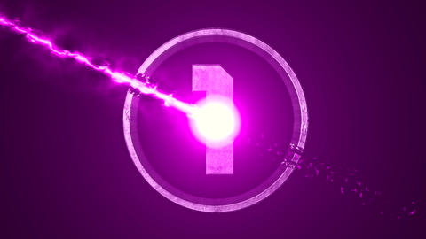 Purple Top 10 Numbers Coundown Overlay Graphic Elements Animation