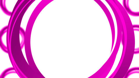 Circles Rotating Loop - Pink Animation
