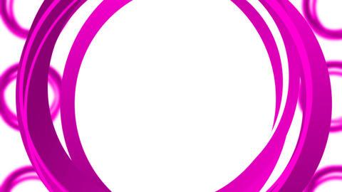 Circles Rotating Loop - Pink Animation