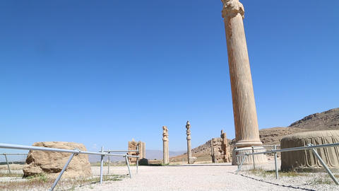 in iran persepolis the old ruins historical destination monuments and ruin Live Action