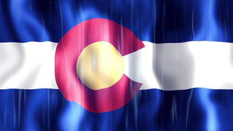 Colorado State Flag Animation Animation