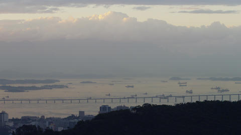 Morning clouds roll over Ipanema in Rio de Janeiro Footage