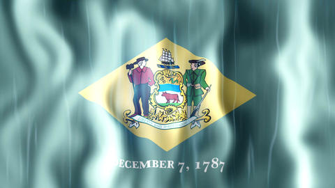 Delaware State Flag Animation Animation